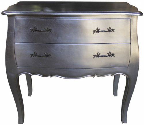 Bombe Chest in Silver or Gold Leaf